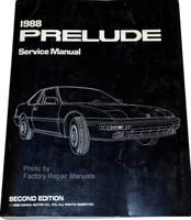 1988 Honda Prelude Factory Service Manual Original Shop Repair