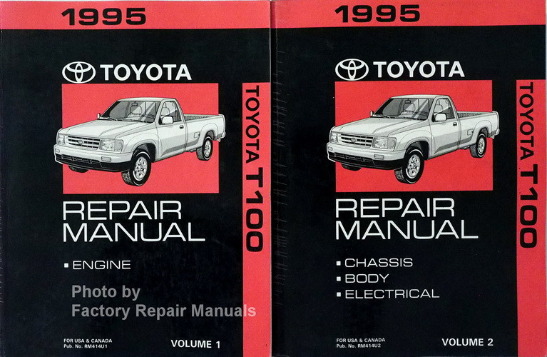 1995 Toyota T100 Truck Factory Service Repair Manual Set Used