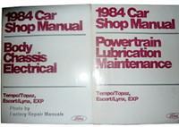 1984 Ford Tempo Escort EXP, Mercury Topaz Lynx Shop ManualS