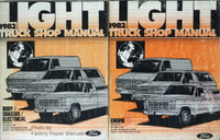 1982 Ford F100-F350 Truck, Econoline, Bronco Shop Manuals
