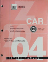 2004 Chevy Malibu Service Manual Z Car Volume 1 & 2 Front View