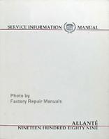 1989 Cadillac Allante Service Manual