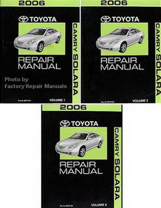 2006 toyota camry solara factory service manual set. Black Bedroom Furniture Sets. Home Design Ideas