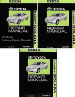 2006 Toyota Camry Solara Factory Service Manual Set Original Used VG