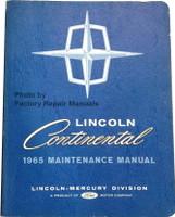Lincoln Continental 1965 Maintenance Manual