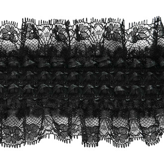 "Dorian 3"" Accordion Stretch Lace Trim"