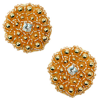 Round Beaded Applique Pack of 2