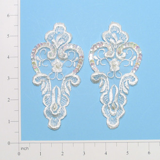 Vintage Paisley Lace Applique Pack of 2