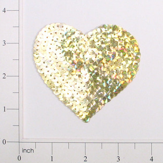 Prism Heart Sequin Applique