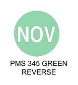 "1.5"" DIAM. CIRCLE, Inventory Control Labels ""November"" Thermal Transfer ( Item#: MP15CIRNOV )"