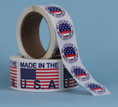 2X3 LABELS, Thermal Transfer, Made in the U. S. A. ( QC23500FLAG )