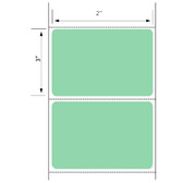 2x3 LABELS, Floodcoated Topcoated Direct Thermal ( Item#: BD23500GR )
