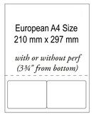 102mmX64mm, Integrated Labels White 24LB Bond Laser Sheet ( Item#: RIA4102642NP )