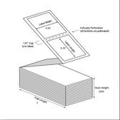 4x6.5, Thermal Transfer Tag Stock ( Item#: BTAG4651000FF )