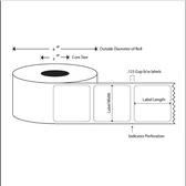 "1.5"" Diam. Circle, LABELS, Topcoated Thermal Transfer ( Item#: BFL15CIRRD )"