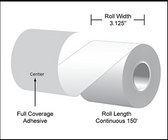 "3.125""x150 Labels, Linerfree  Direct Thermal Rolls ( Item#: MS31815024 )"