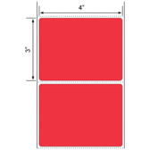 4x3 LABELS, Topcoated Thermal Transfer ( Item#: BFC431900RD (PMS 032) )