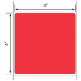 4x4 LABELS, Topcoated Thermal Transfer ( Item#: BFC441500RD (PMS 032) )