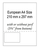 102X64 Integrated Labels White 24LB Bond Laser Sheet ( Item#: BIA4102641Left )