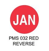 """1.5"""" DIAM. CIRCLE, Inventory Control Labels """"January"""" Thermal Transfer ( Item#: MP15CIRJAN )"""