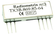 TX3B - Wide Band FM Transmitter Frequency 869.85MHz