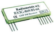RX3G - UHF FM receiver module with RSSI Frequency 869.85MHz