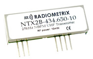 NTX2B- UHF Narrow Band FM Transmitter Frequency: 434.075MHz, 434.650MHz and 458.700MHz