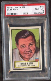1952 Look 'N See #15 Babe Ruth PSA 8-Only 4 Graded