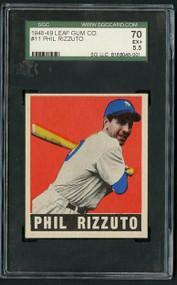 1948 Leaf #11 Phil Rizzuto SGC 5.5/70