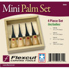 Flexcut FR604 4pc Mini Palm Set
