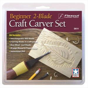 Flexcut SK111 Beginner 2 Blade Craft Carver Set