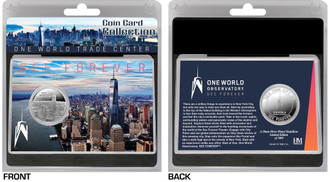 One World Observatory SILVER COIN CARD