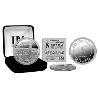 One World Observatory Limited Edition Numbered Silver-Plated Coin