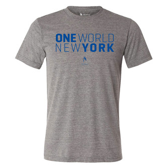 One World Observatory Boys Grey Short Stack Tee