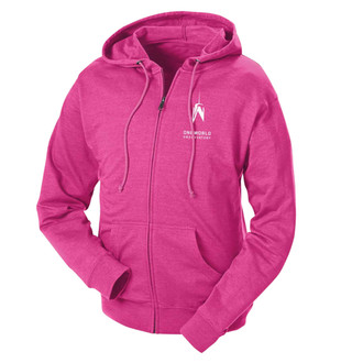 One World Observatory Girls Full-zip Pink Sweatshirt