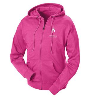 One World Observatory Girls Full-zip Pink Sweatshirt