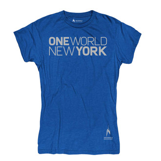 One World Observatory Women's Navy Tee