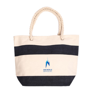 One World Observatory Blue Beach Bag