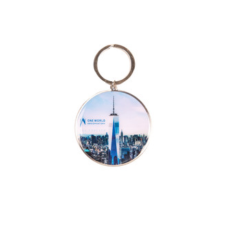 One World Observatory Steel Keychain