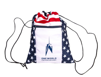 One World Observatory Patriotic Drawstring bag