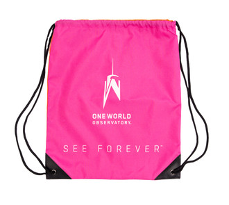 One World Observatory Drawstring Bag Pink