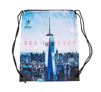 One World Observatory Drawstring Bag View