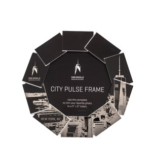 One World Observatory City Pulse Metal Frame
