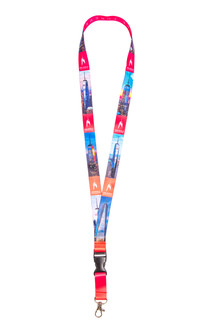 One World Observatory Lanyard Pink
