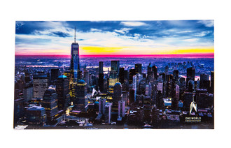 One World Observatory Jumbo Postcard with Sunset