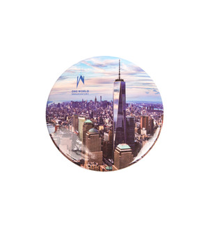 "One World Observatory Round 3"" Day Magnet"