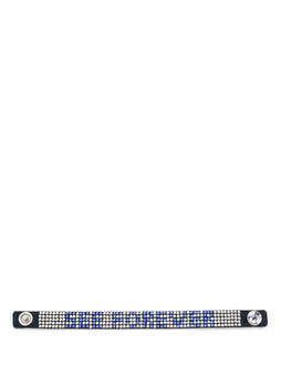 One World Observatory Single Wrap Studded Bracelet with crystals from Swarovski