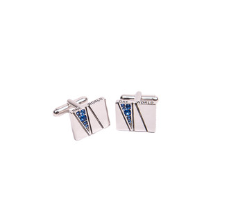 One World Observatory Cufflinks with crystals from Swarovski