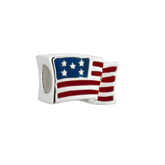 One World Observatory Enamel Flag Bead