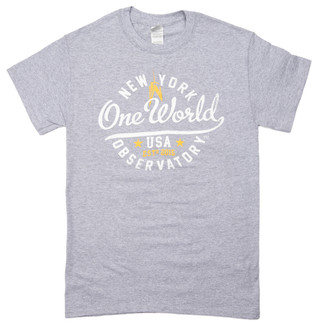One World Observatory Round It Out Grey Tee